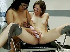 Bobbi Starr and DragonLily are using various fucking machines to keep themselves satisfied